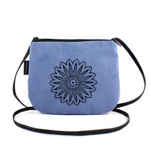Niebieska mała torebka damska Czarne Koło