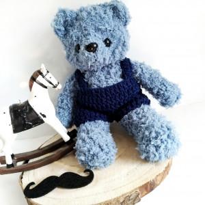 Niebieski miś Kudłatek 22 cm