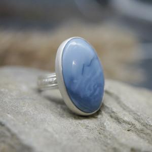 """Niebieski opal pierścionek """"Manir"""""""
