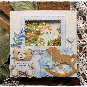 Niedźwiadek - kartka dziecięca
