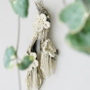 Niezwykła makrama na ścianę z kwiatami