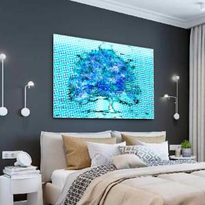 Nowoczesny obraz Niebieskie drzewo 120 x 80