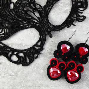 Noxy 18 - sutaszowe kolczyki karnawałowe