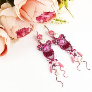 Noxy Fleur - kwiatowe sutaszowe kolczyki