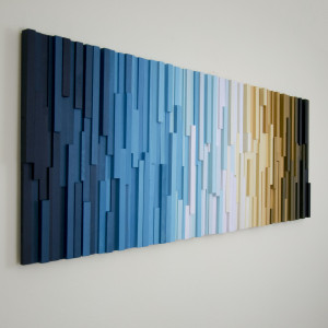 """Obraz 3D Mozaika drewniana """"Rytm"""" Na zamówienie"""