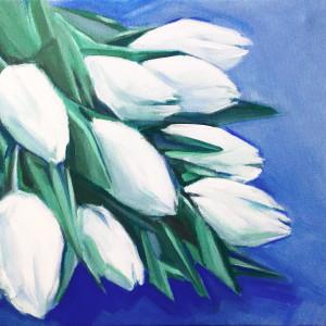 Obraz akryl tulipany