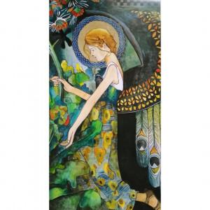 Obraz Anioł w Ogrodzie mini