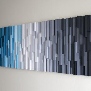 """Obraz drewniany 3D Mozaika drewniana """"Arktyka"""""""