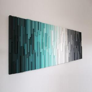 """Obraz drewniany 3D Mozaika drewniana """"AT"""""""
