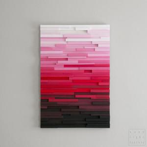 """Obraz drewniany 3D Mozaika drewniana """"Pink P"""""""