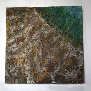 Obraz ,,Growing'' - naturalne pigmenty, recycling