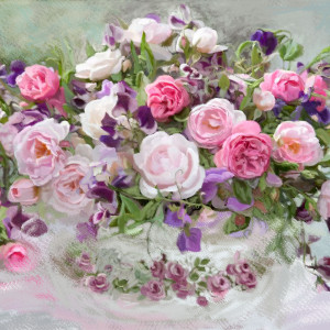 Obraz na płotnie, 100 x 60, róże