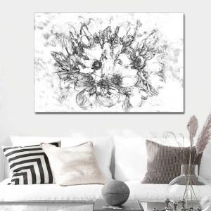 Obraz na płótnie czarno biały  Magnolie 120 x 80