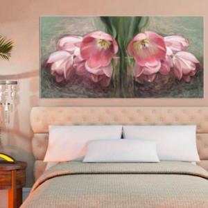 Obraz na płótnie kwiaty tulipany, 100 x 50