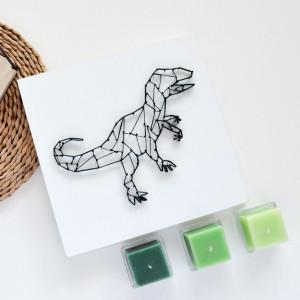 Obraz na ścianę Dinozaur T-Rex String Art Biały