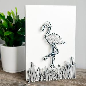 Obraz na ścianę Falming String Art Biały Dla dziec