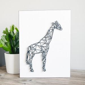 Obraz na ścianę Żyrafa String Art Biały Dla dzieci