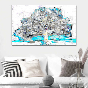 Obraz nowoczesny Drzewo z papieru 120 x 80