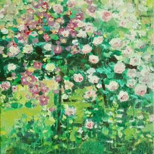 Obraz olejny na płótnie Pnące róże