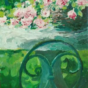 Obraz olejny Ogrodowe róże