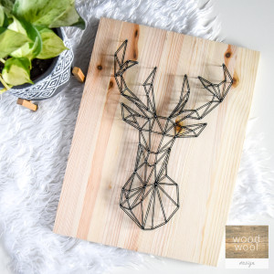 Obraz Skandynawski jeleń, łoś, renifer geometryczn