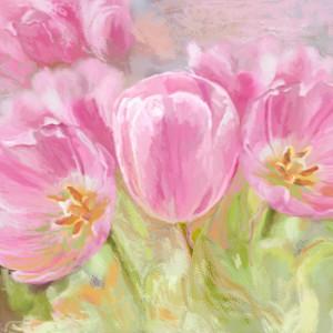 Obraz tulipany na płótnie, 80 x 50, kwiaty