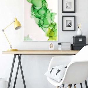 Obraz zielono-złoty dym 40x25 cm