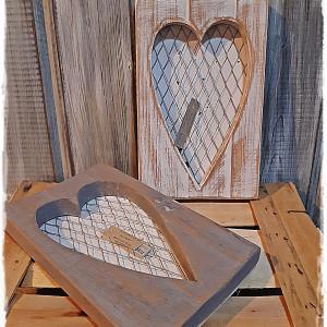 Obrazek drewniany z siatką