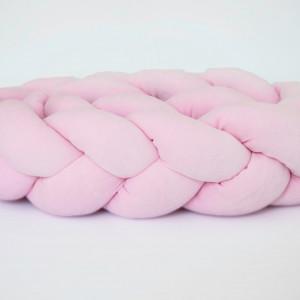 Ochraniacz do łóżeczka 210 cm warkocz różowy (3)
