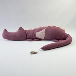 Ochraniacz do łóżeczka wrzosowy smokozaur