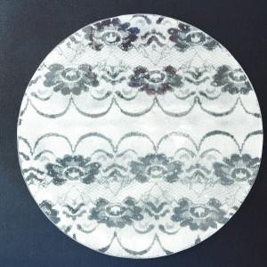 Okrągła patera koronka biała Lena o średnicy 43 cm