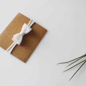 Opaska biała kokardka szyfon chrzest