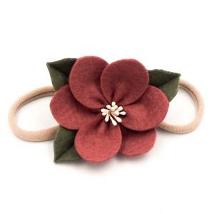 Opaska do włosów kwiatek jesienny pretty in pink