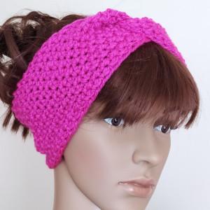 Opaska fuksja typu turban
