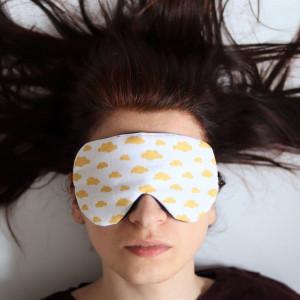 Opaska na oczy do spania z bawełny, chmury