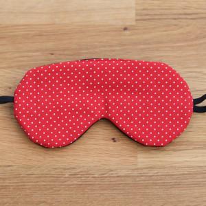 Opaska na oczy do spania z bawełny, czerwona