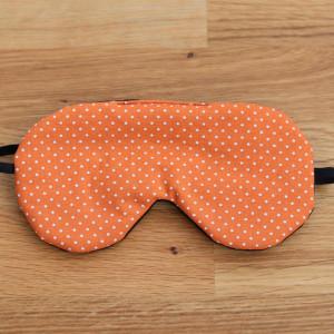 Opaska na oczy do spania z bawełny, pomarańczowy