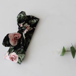 Opaska  pin up ciemne peonie kwiaty