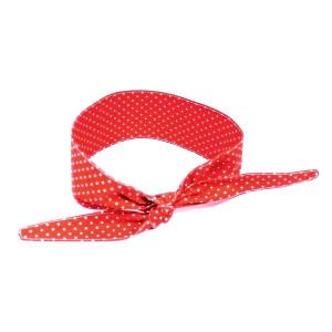 Opaska pin up czerwona w białe kropeczki
