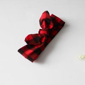 Opaska pin up czerwono CZARNA KRATA 6 cm rozmiary