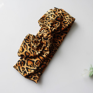 Opaska pin up leopard  szeroka rozmiary