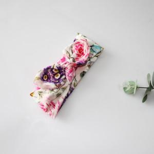 Opaska  pin up wąska 6 cm malowane kwiaty rozmiary