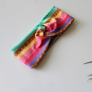 Opaska przeplatana pastelowe paski rozmiary