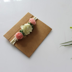 Opaska wianuszek różyczki chrzest