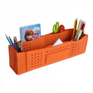 Organizer na biurko z przegrodami - pomarańczowy