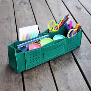 Organizer na biurko z przegrodami - zielony