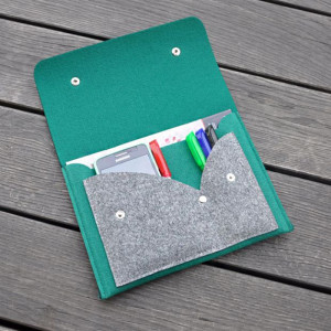 Organizer na notatki - zielony - na format A5