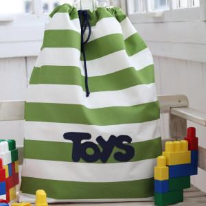 Organizer na zabawki, torba bawełniana