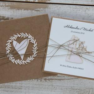 Oryginalna kartka ślubna zestaw 6