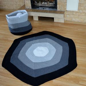 Oryginalny, duży dywan ombre, sznurkowy